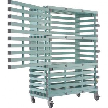 Materiaalwagen, afsluitbaar - ETX Lock